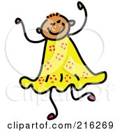 Royalty Free RF Clipart Illustration Of A Childs Sketch Of A Girl With Short Hair