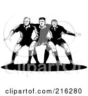 Royalty Free RF Clipart Illustration Of Rugby Football Players In Action 13