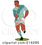 Royalty Free RF Clipart Illustration Of A Rugby Football Player 61