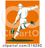 Royalty Free RF Clipart Illustration Of A Rugby Football Player 18