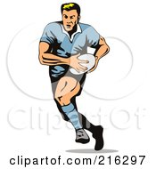 Royalty Free RF Clipart Illustration Of A Rugby Football Player 14