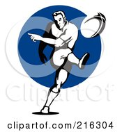 Royalty Free RF Clipart Illustration Of A Rugby Football Player 38