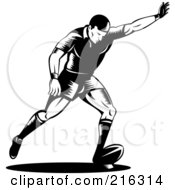 Royalty Free RF Clipart Illustration Of A Rugby Football Player 58