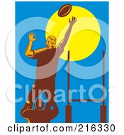 Royalty Free RF Clipart Illustration Of A Rugby Football Player 39