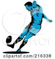 Royalty Free RF Clipart Illustration Of A Rugby Football Player 37