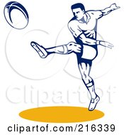Royalty Free RF Clipart Illustration Of A Rugby Football Player 19