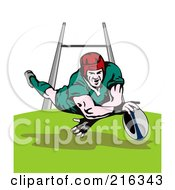 Royalty Free RF Clipart Illustration Of A Rugby Football Player 15