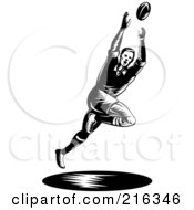 Royalty Free RF Clipart Illustration Of A Rugby Football Player 8