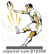 Royalty Free RF Clipart Illustration Of A Rugby Football Player 46