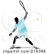 Royalty Free RF Clipart Illustration Of A Male Tennis Athlete In Action 3 by leonid