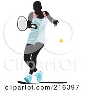 Royalty Free RF Clipart Illustration Of A Female Tennis Athlete In Action 1 by leonid