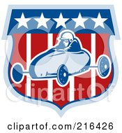 Royalty Free RF Clipart Illustration Of A Retro Soap Box Racer 5