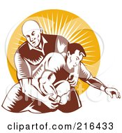 Royalty Free RF Clipart Illustration Of Rugby Football Players In Action 8