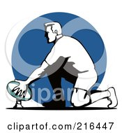 Royalty Free RF Clipart Illustration Of A Rugby Football Player 73