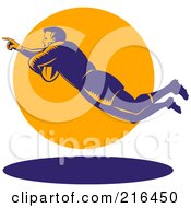 Royalty Free RF Clipart Illustration Of A Rugby Football Player 74