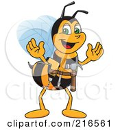 Royalty Free RF Clipart Illustration Of A Worker Bee Character Mascot Handyman by Toons4Biz #COLLC216561-0015