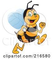 Worker Bee Character Mascot Running