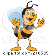 Royalty Free RF Clipart Illustration Of A Worker Bee Character Mascot