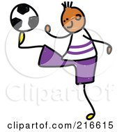 Royalty Free RF Clipart Illustration Of A Childs Sketch Of A Soccer Boy 3 by Prawny