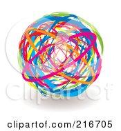 Vibrantly Colored Elastic Band Ball