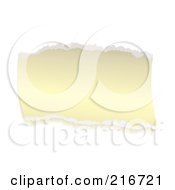 Royalty Free RF Clipart Illustration Of A Torn Piece Of Aged Paper On White by michaeltravers
