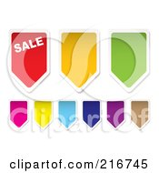 Royalty Free RF Clipart Illustration Of A Digital Collage Of Colorful Price Tag Banners by michaeltravers