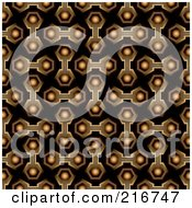 Royalty Free RF Clipart Illustration Of A Funky Seamless Hexagon Link Background Pattern