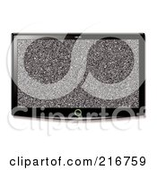 Royalty Free RF Clipart Illustration Of A Wall Mounted Lcd Tv With A Static Display