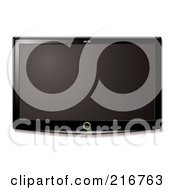 Royalty Free RF Clipart Illustration Of A Wall Mounted LCD Television by michaeltravers