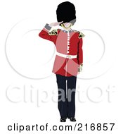 Royalty Free RF Clipart Illustration Of A London Guard 2 by leonid