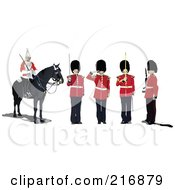 Royalty Free RF Clipart Illustration Of A Digital Collage Of Five Guards by leonid