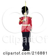Royalty Free RF Clipart Illustration Of A London Guard 3 by leonid