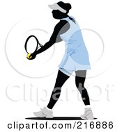 Royalty Free RF Clipart Illustration Of A Female Tennis Athlete In Action 3 by leonid