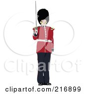 Royalty Free RF Clipart Illustration Of A London Guard 1 by leonid