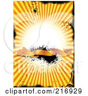 Royalty Free RF Clipart Illustration Of A Grungy Orange Burst Banner Background 3