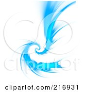Royalty Free RF Clipart Illustration Of A Bright Blue Twisting Fractal Vortex On White