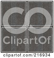 Royalty Free RF Clipart Illustration Of A Seamless Background Of Metal Plate Tiles by Arena Creative