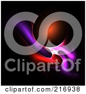 Royalty Free RF Clipart Illustration Of A Red Orb With Colorful Fractals On Black