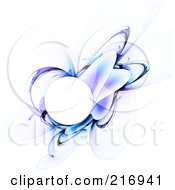 Royalty Free RF Clipart Illustration Of A Blue And Purple Fractal Orb And Shapes On White