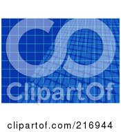 Royalty Free RF Clipart Illustration Of A Background Of Blue Grids Overlapping