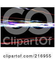 Royalty Free RF Clipart Illustration Of A Background Of Blurred Light Trails On Black