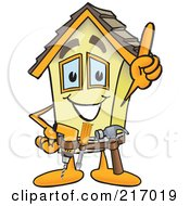 Royalty Free RF Clipart Illustration Of A Home Mascot Character Handyman by Toons4Biz #COLLC217019-0015