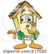 Home Mascot Character Whispering