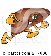 Royalty Free RF Clipart Illustration Of A Liver Mascot Character Running by Toons4Biz