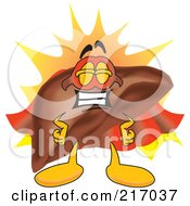 Royalty Free RF Clipart Illustration Of A Liver Mascot Character Super Hero by Toons4Biz