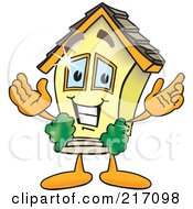 Royalty Free RF Clipart Illustration Of A Home Mascot Character by Toons4Biz