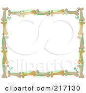 Royalty Free RF Clipart Illustration Of A Frame Of Bones And Foliage by bpearth