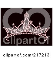 Pink Jeweled Princess Crown