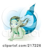 Pretty Mermaid Resting Underwater