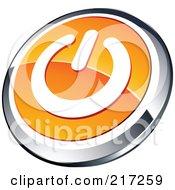 Shiny Orange White And Chrome Power App Icon Button